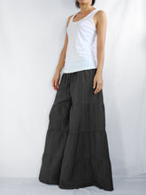 Load image into Gallery viewer, Flares Pants | Wide leg pants & flare trousers - Black