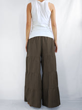 Load image into Gallery viewer, Flares Pants | Wide leg trousers & flare trousers - Brown