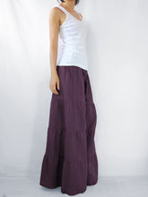 Load image into Gallery viewer, Burgundy Wide Leg Pants Casual Flare Trousers
