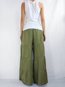 Green Flares Pants | Wide leg pants & flare trousers