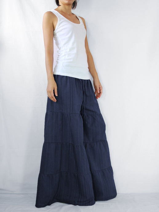 Flares Pants | Wide leg pants & flare trousers - Navy Blue