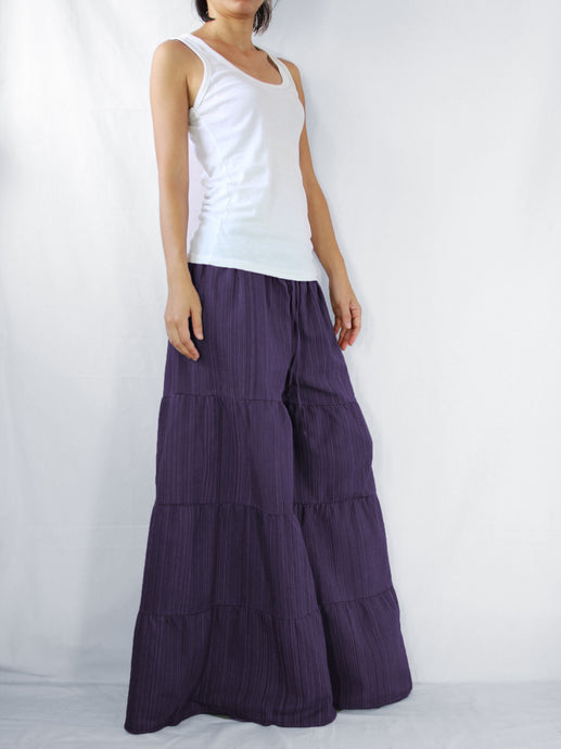Flares Pants | Wide leg pants & flare trousers - Purple