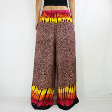 Load image into Gallery viewer, Open Front Slit Palazzo Pants - Leopard Print