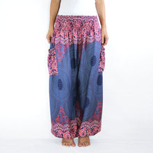 Load image into Gallery viewer, Women Genie Pants - Navy Blue Mandala