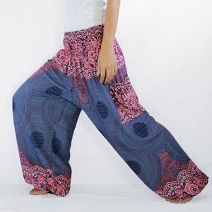 Women Genie Pants - Navy Blue Mandala