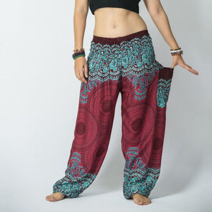 Women Genie Pants - Red Mandala