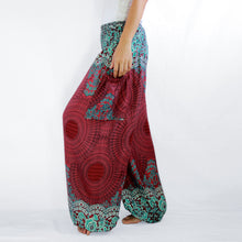 Load image into Gallery viewer, Women Genie Pants - Red Mandala