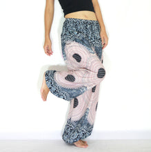 Load image into Gallery viewer, Women Genie Pants - White Mandala