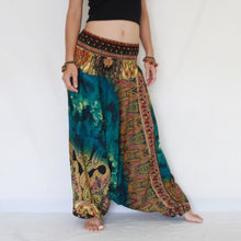 Load image into Gallery viewer, Women Yoga Jumpsuit Harem Pants - Green Tie Dye