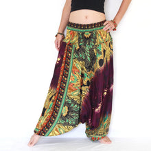 Load image into Gallery viewer, Women Yoga Jumpsuit Harem Pants - Purple Tie Dye