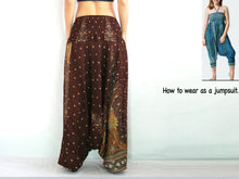 Load image into Gallery viewer, Women Yoga Jumpsuit Harem Pants - Brown Peacock