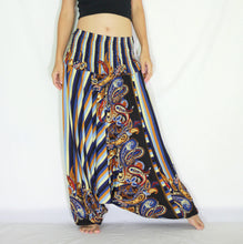 Load image into Gallery viewer, Women Yoga Jumpsuit Harem Pants - Navy Blue Stripes