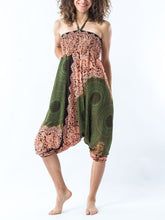 Load image into Gallery viewer, Women Yoga Jumpsuit Harem Pants - Olive Green Mandala