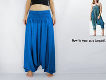 Load image into Gallery viewer, Women Yoga Jumpsuit Harem Pants - Blue