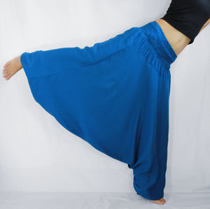 Women Yoga Jumpsuit Harem Pants - Blue