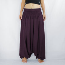 Load image into Gallery viewer, Women Yoga Jumpsuit Harem Pants - Burgundy
