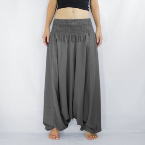 Women Yoga Jumpsuit Harem Pants - Gray