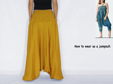 Load image into Gallery viewer, Women Yoga Jumpsuit Harem Pants - Mustard