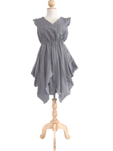 Load image into Gallery viewer, Gray Layered Dress Mini Dress Knee Length