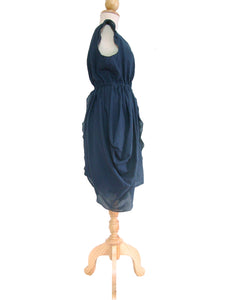 Women Deep Navy Blue Layered Mini Dress
