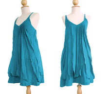 Load image into Gallery viewer, Women Turquoise Ruffles Dresses
