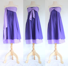 Load image into Gallery viewer, Convertible Summer Bridesmaid Dresses Bandeau Dress - Violet