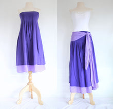 Load image into Gallery viewer, Purple Violet Convertible Bridesmaid Mini Dress Summer