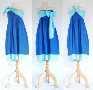 Convertible Beach Bridesmaid Dresses Bandeau Dress - Blue