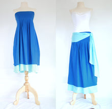 Load image into Gallery viewer, Sky Blue Convertible Bow Bandeau Bridesmaid Dress