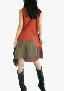 Pixie Dress Summer Festival Outfits - Burnt Orange
