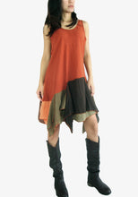 Load image into Gallery viewer, Pixie Dress Summer Festival Outfits - Burnt Orange