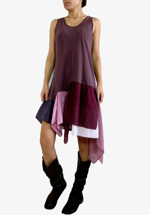 Women Pixie Dress Summer Gypsy Festival Outfits - Lavender