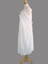 Load image into Gallery viewer, Ivory Off White Ruffle Neck Dress