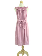 Load image into Gallery viewer, Women Light Pink Ruffle Neck Dress