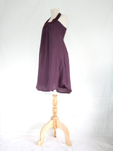 Load image into Gallery viewer, Purple Lavender Bib Neck Shift Dress