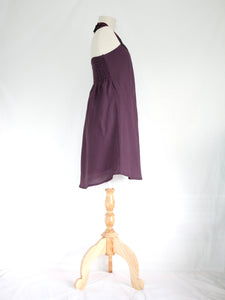 Purple Lavender Bib Neck Shift Dress