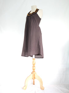 Taupe Dress Knee Length