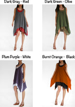 Load image into Gallery viewer, Women summer cotton double layer dresses