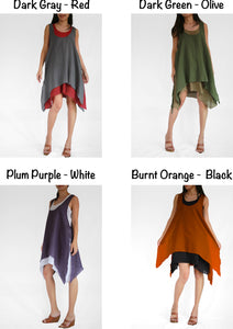 Convertible Summer Cotton Double Layer Dresses