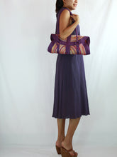 Load image into Gallery viewer, Loose Fit Purple Cotton Sleeveless Turtleneck Dress