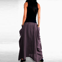 Load image into Gallery viewer, Women Lagenlook Maxi Skirt with Big Pockets - Purple