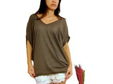 Load image into Gallery viewer, Brown Dolman Oversized Women Tops