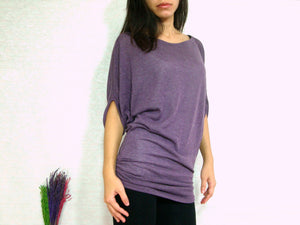 Purple Ruched Top