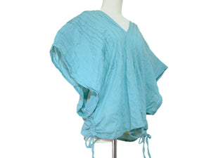 Light Blue Oversized Cotton Blouse