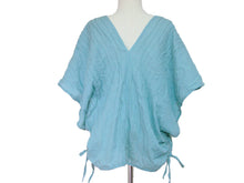 Load image into Gallery viewer, Light Blue Oversized Cotton Blouse