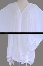 Load image into Gallery viewer, White Loose Cotton Blouse Bohemian Boho Top