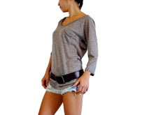 Load image into Gallery viewer, Women Brown Raglan Sleeves Top with Pocket