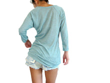 Load image into Gallery viewer, Mint Women Raglan Sleeves Top with Pocket