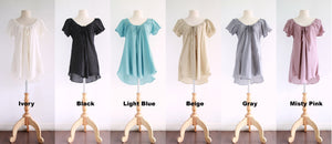 Loose A-Shape Cotton Blouse Dolly Tops