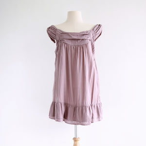 Women Loose Cotton Sleeveless Peasant Blouse - Misty Pink